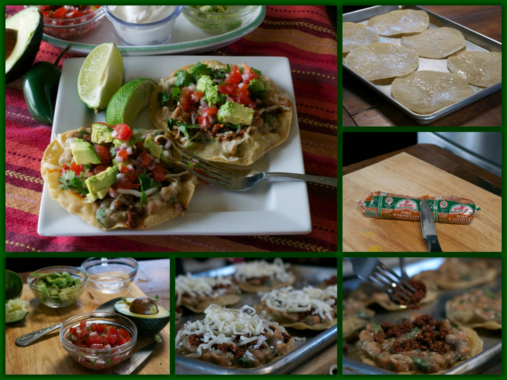 Chorizo Verde Tostada Collage