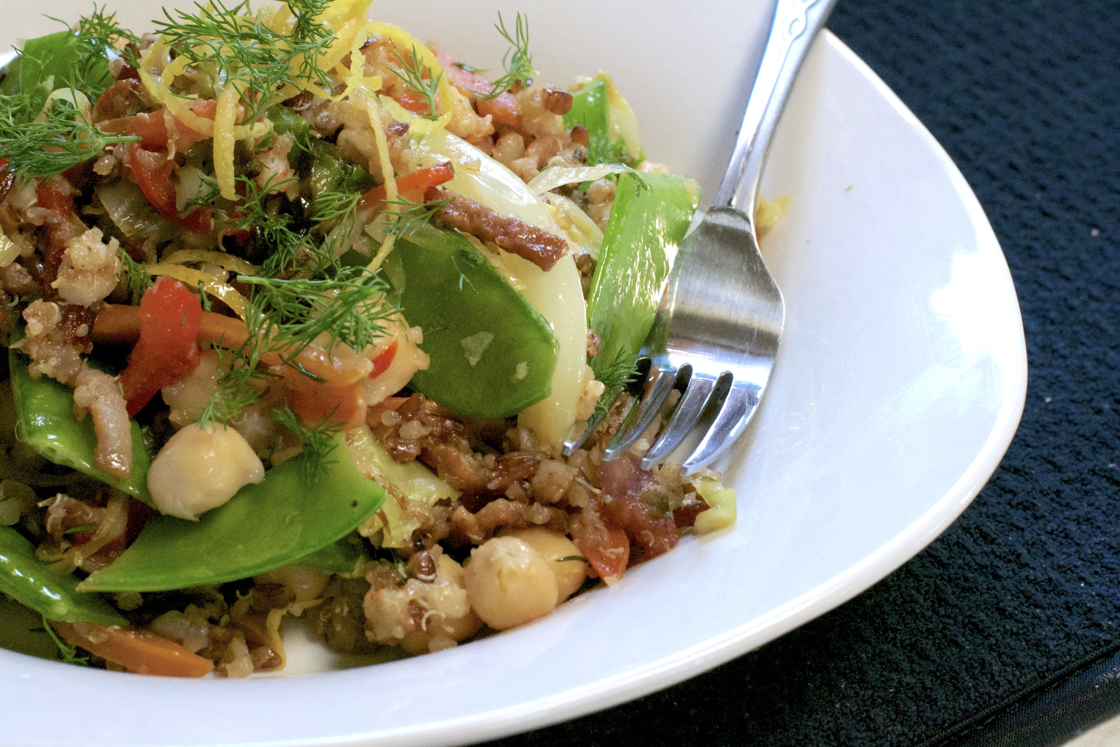 Toasted Quinoa Cabbage Salad - What the Forks for Dinner?