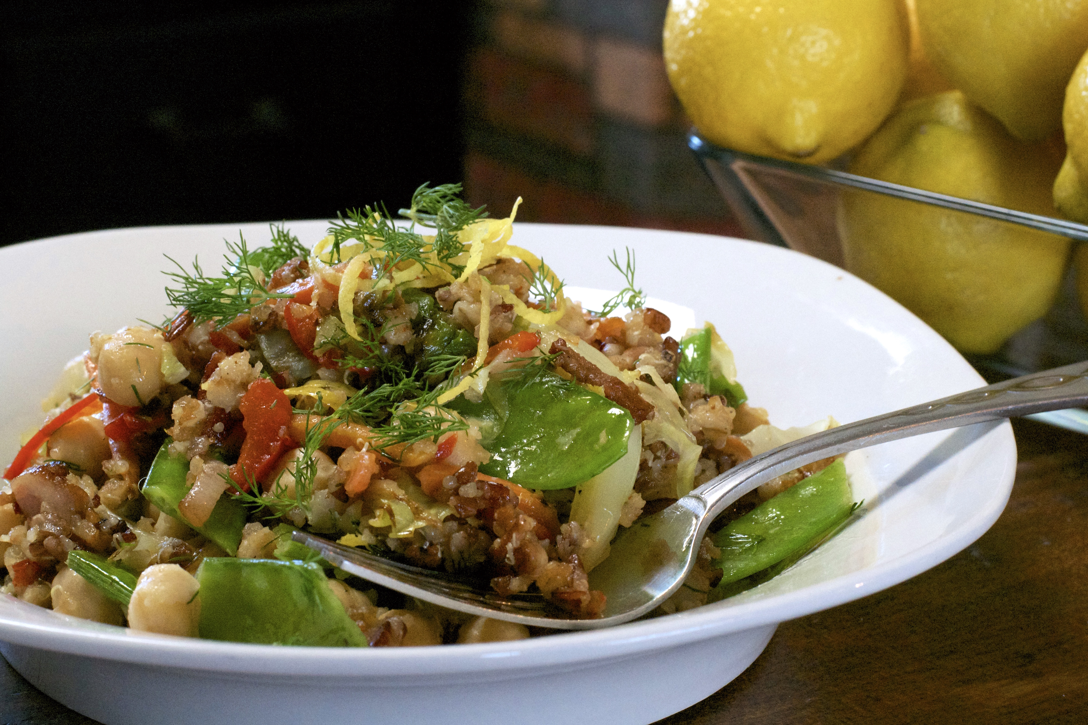 "Toasted Quinoa Cabbage Salad - ""What the ""Forks"" for Dinner?"