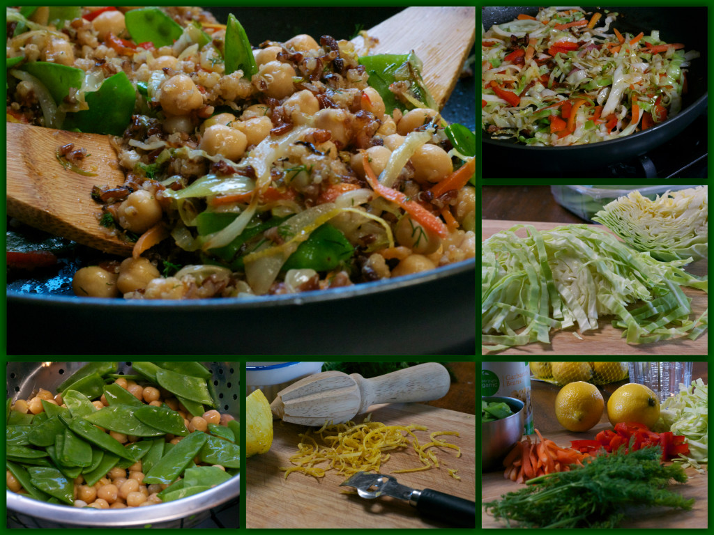 Toasted Quinoa Salad Collage