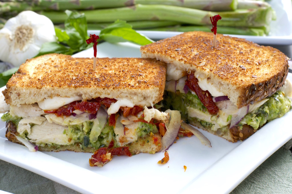Asparagus Pesto Chicken Sandwich