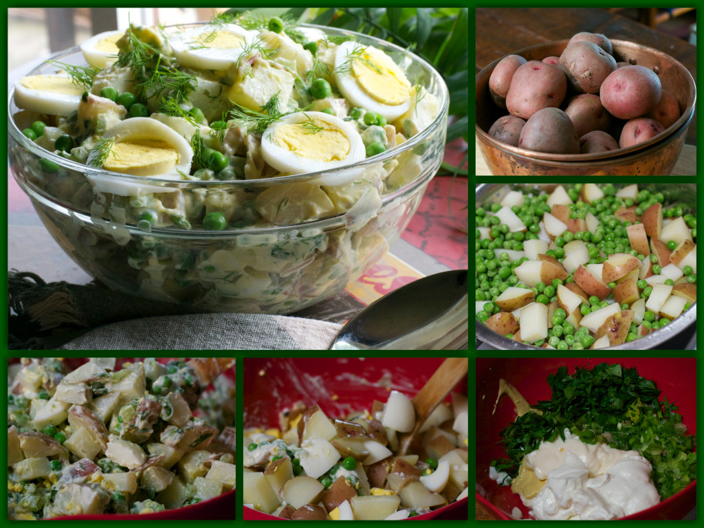 Baby Red Potato Salad Collage
