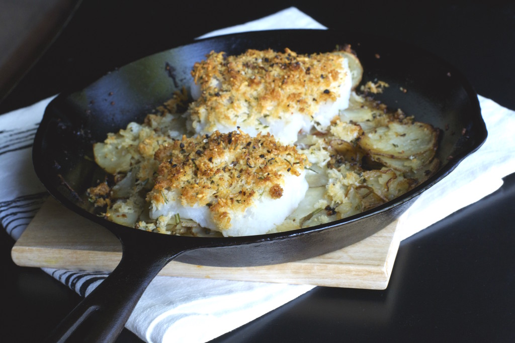 Cast Iron Cod Potatoes and Onions 2