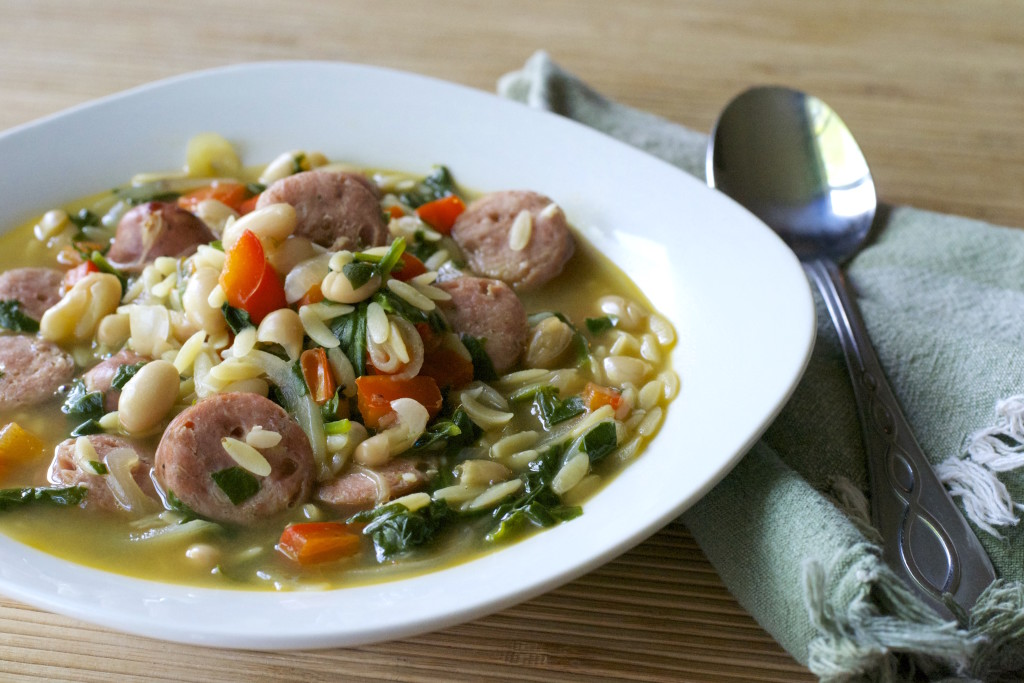 Chicken Sausage Orzo Soup 1