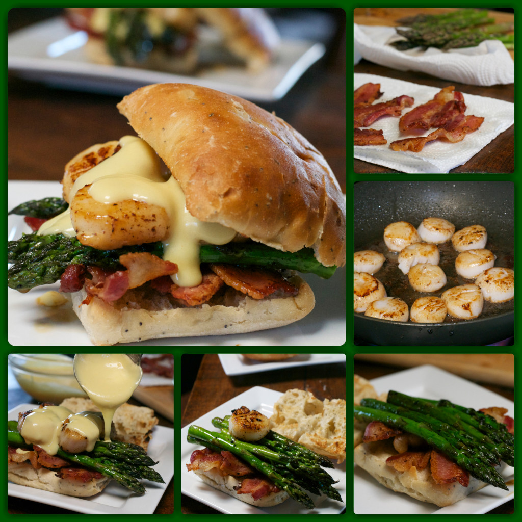 Scallop Bacon Burger Collage