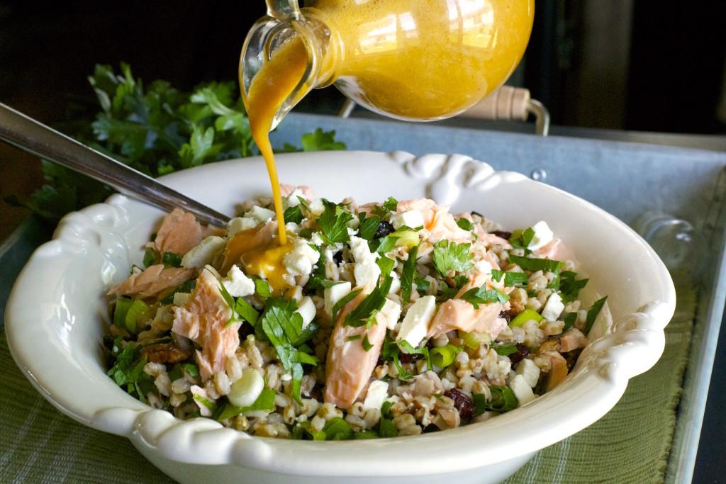 Salmon Farro Salad
