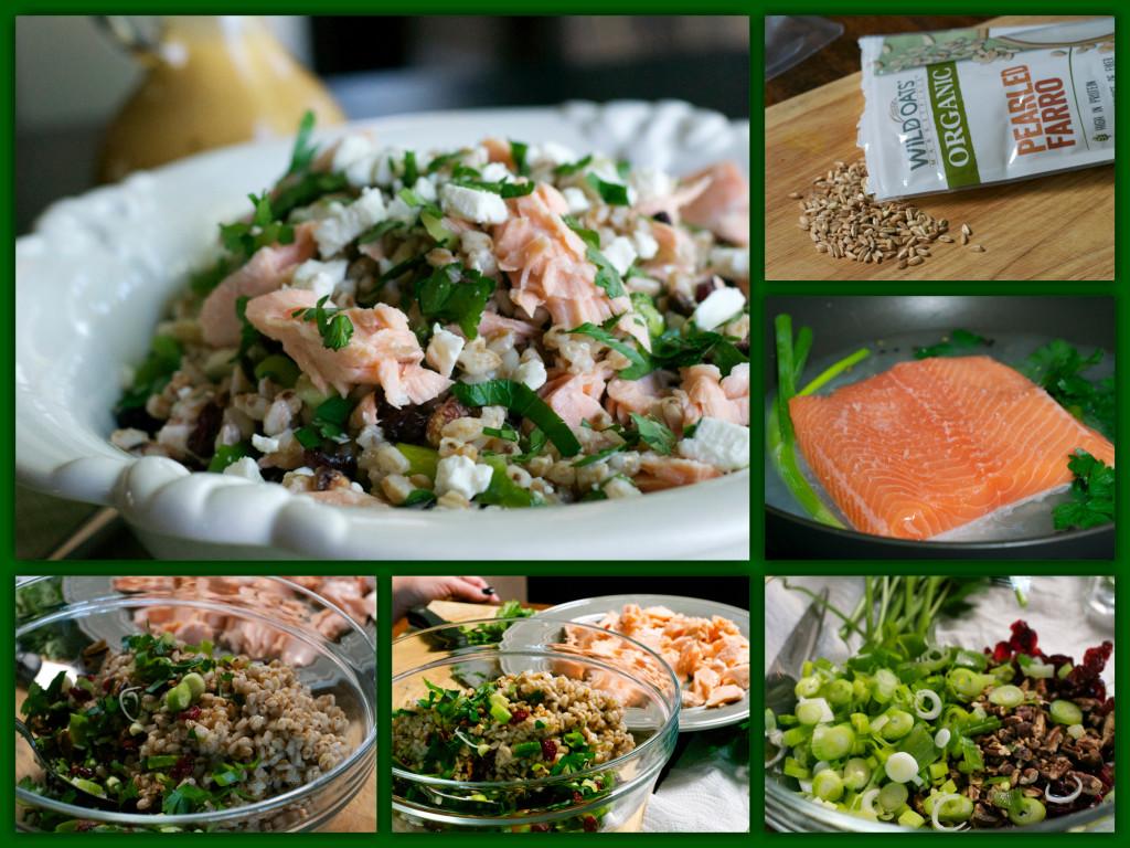 Salmon Farro Salad Collage