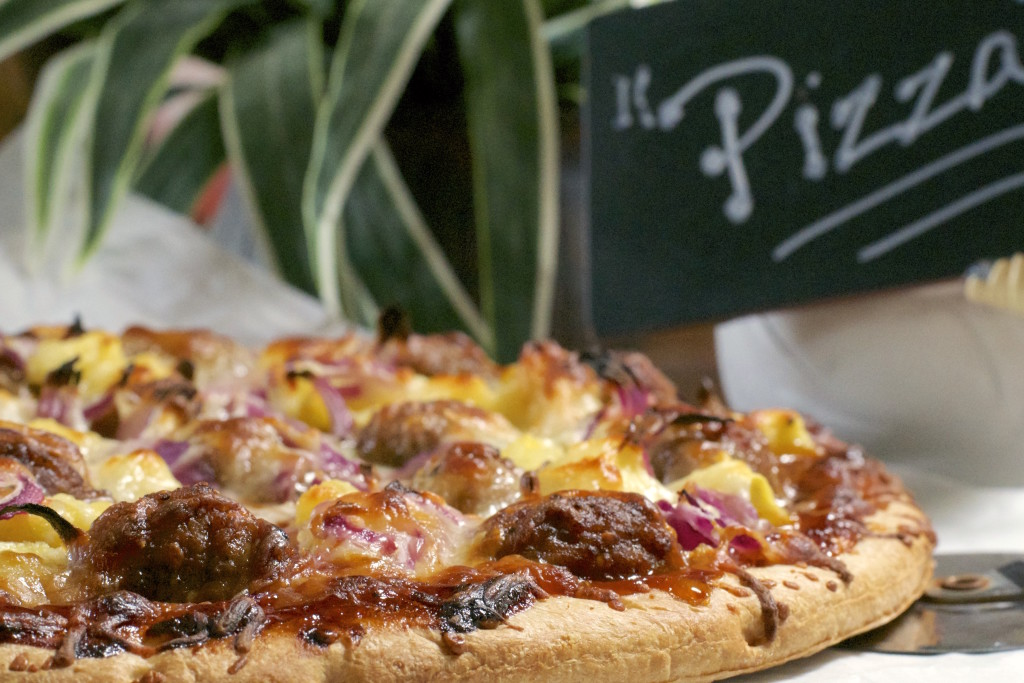 Teriyaki Meatball Pineapple Pizza