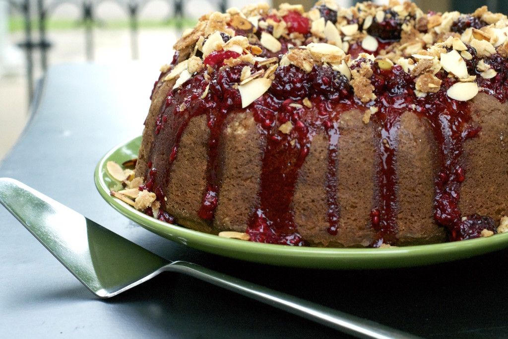Triple Berry Bundt Cake