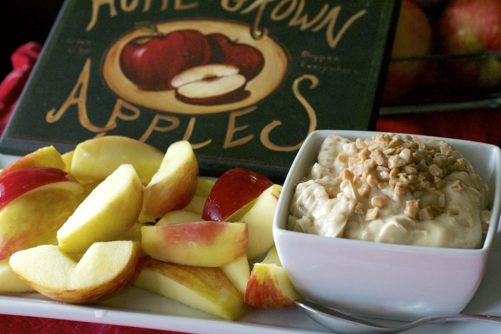 Whipped Toffee Dip and Apples