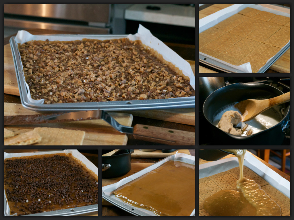 Graham Cracker Toffee Collage