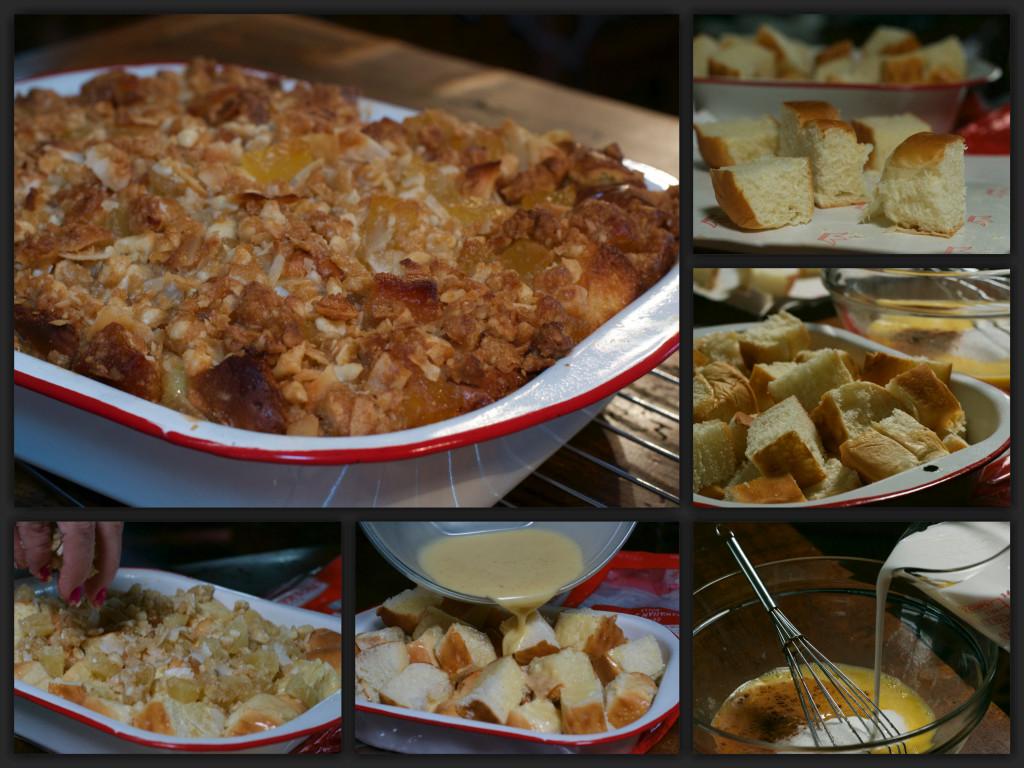 Hawaiian Bread Pudding Collage