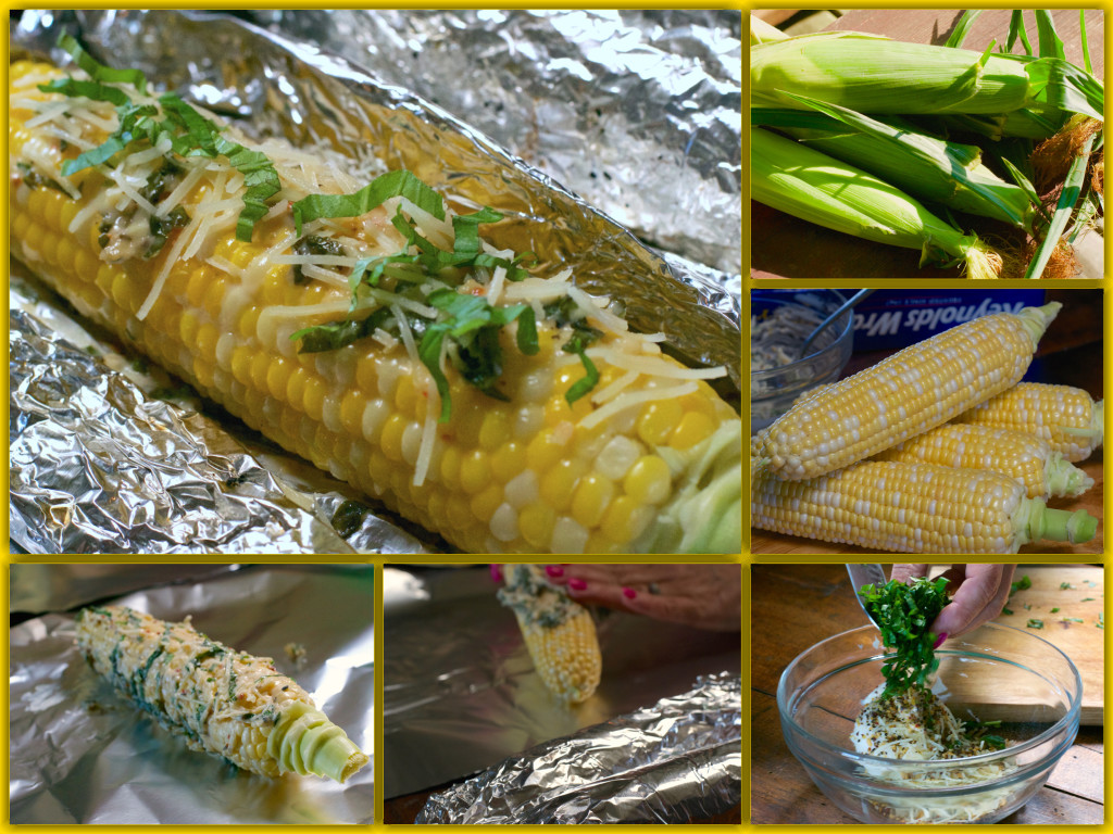 Italian Corn on the Cob Collage