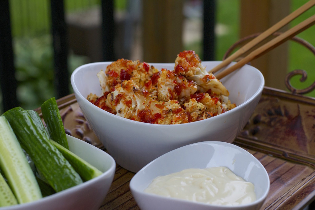 Roasted Sweet Chili Cauliflower Bites