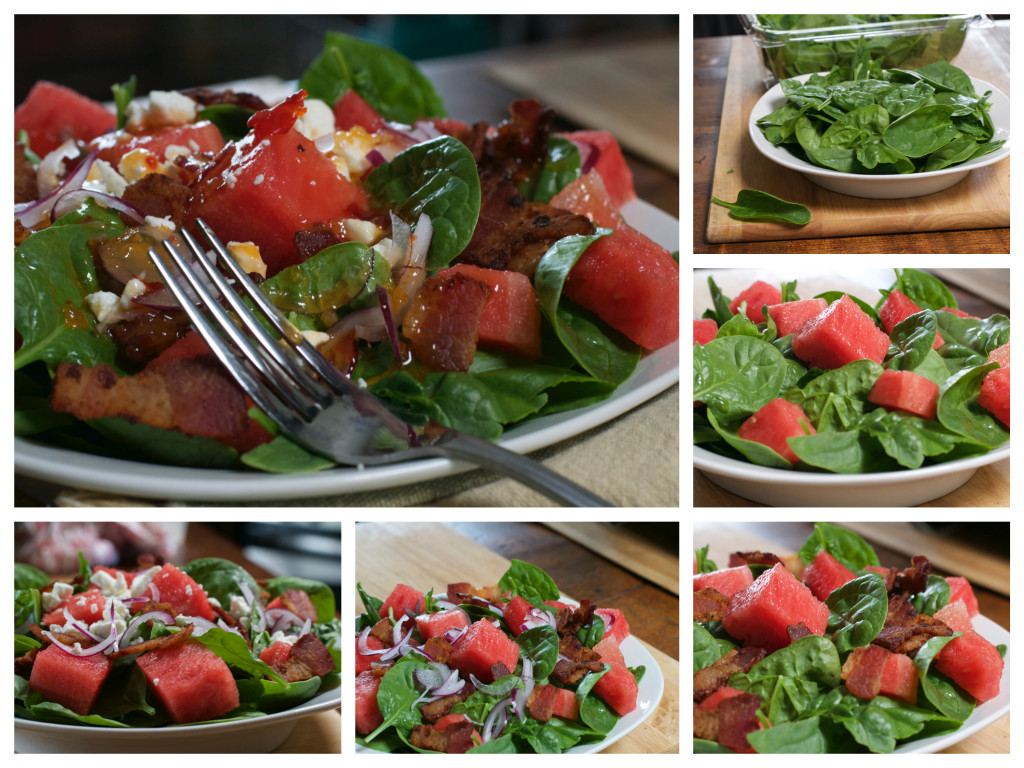 Spinach Watermelon Salad Collage