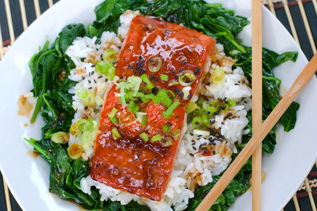 Glazed Salmon Rice Bowl 6