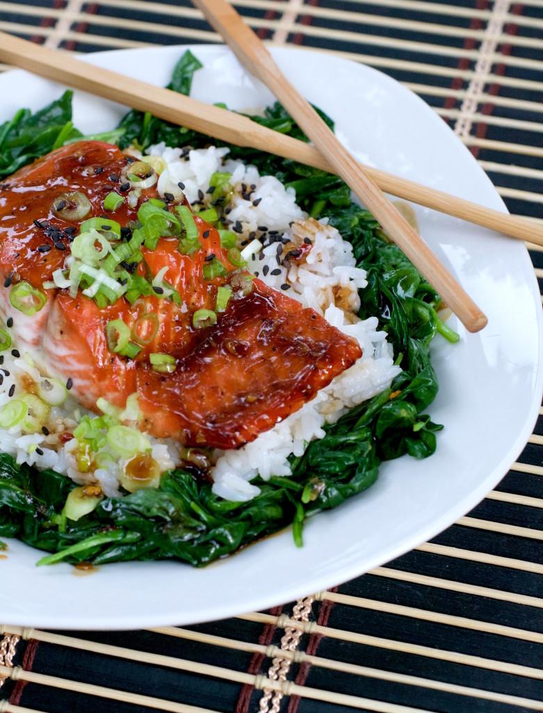 Glazed Salmon Rice Bowl