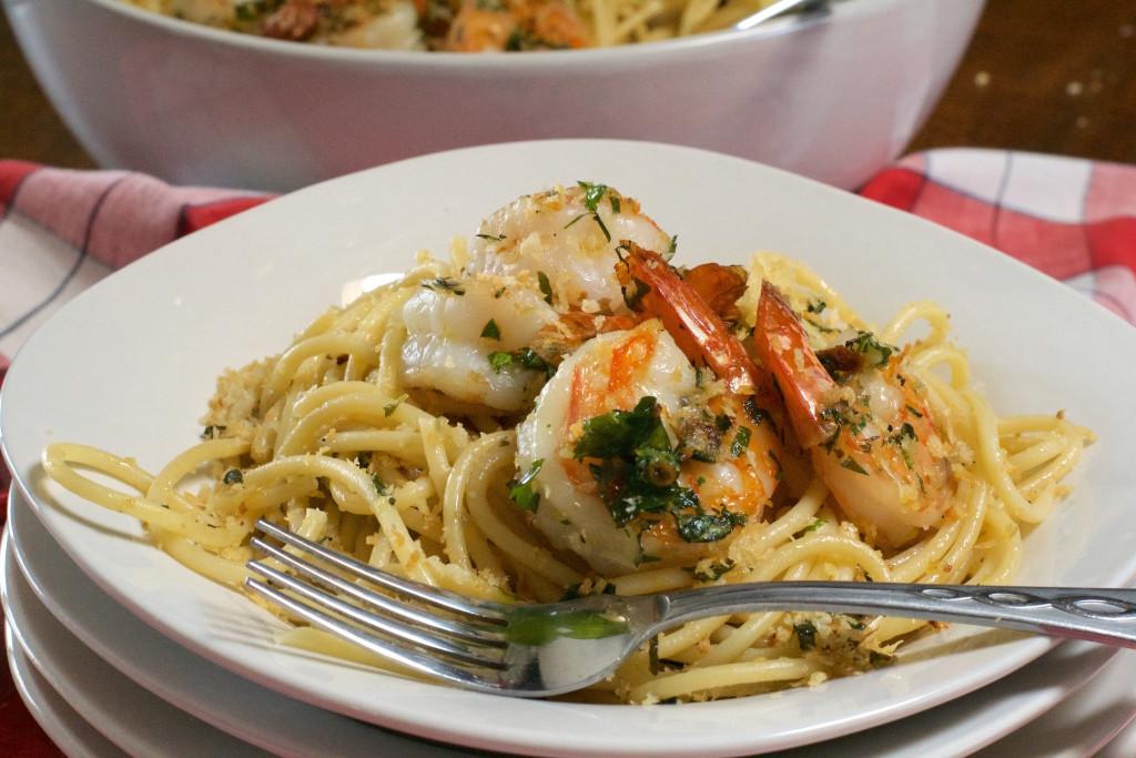 Herbed Shrimp and Pasta with Crispy Crumbs 1