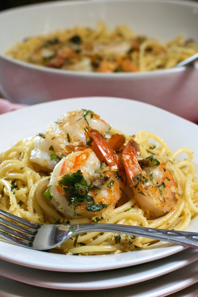 Herbed Shrimp and Pasta with Crispy Crumbs 2