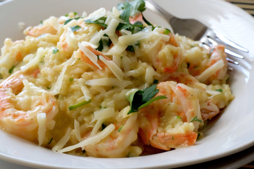 Asiago Shrimp Risotto 4