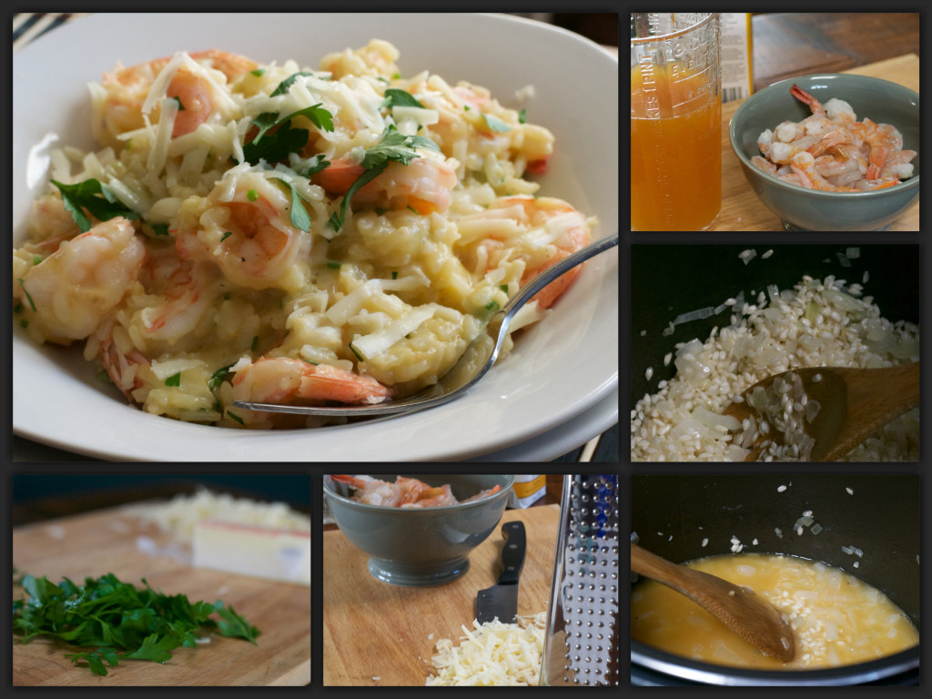 Asiago Shrimp Risotto Collage