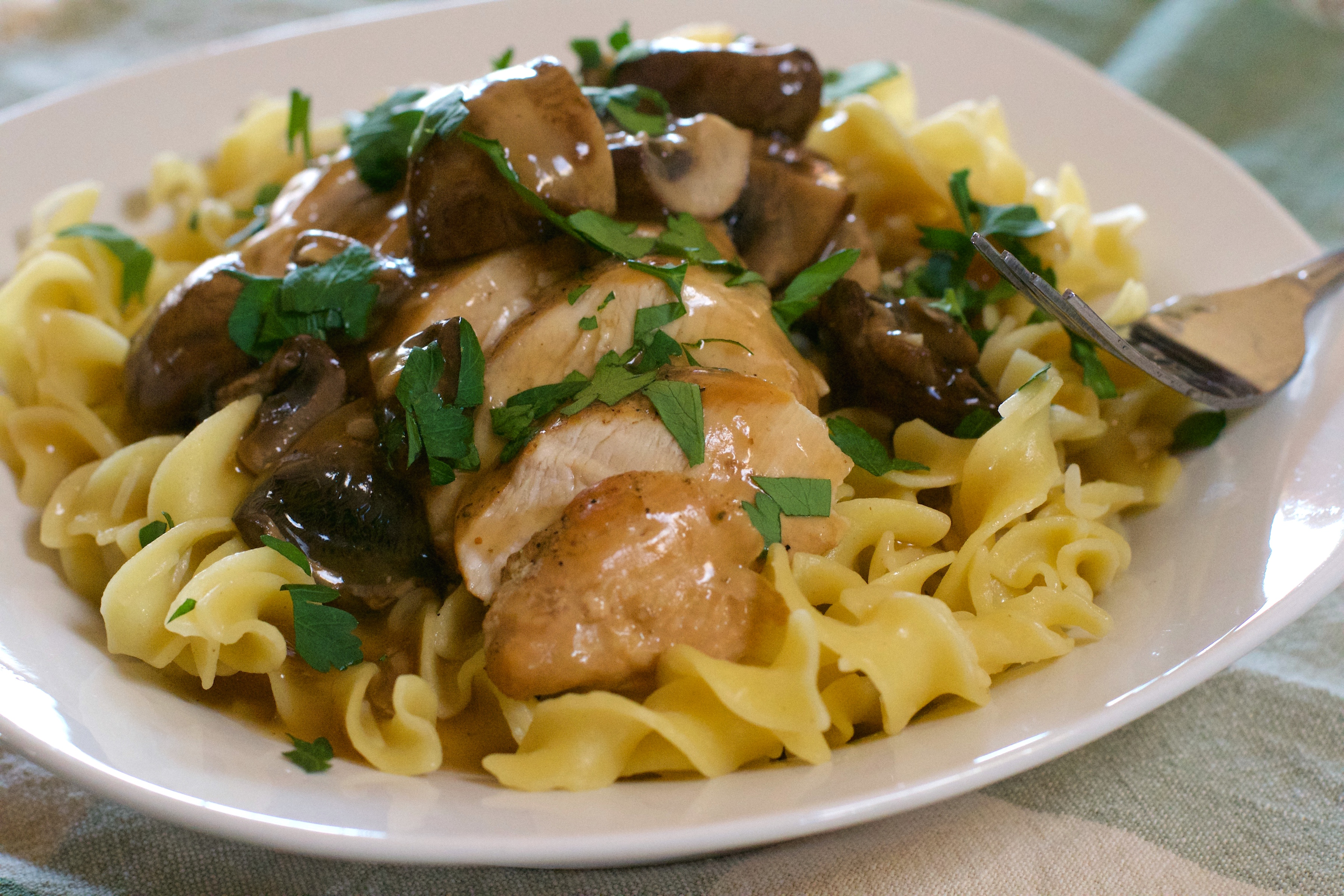 Pressure Cooker Chicken Marsala - What the Forks for Dinner?