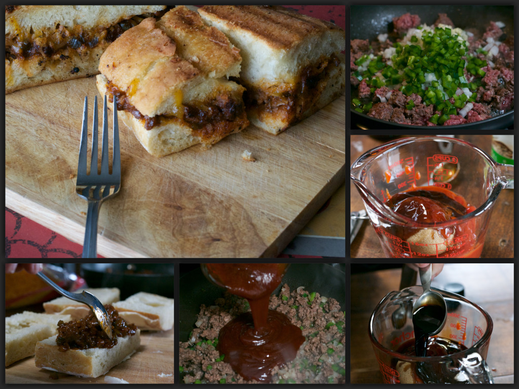 Grilled Sriracha Sloppy Joe's Collage