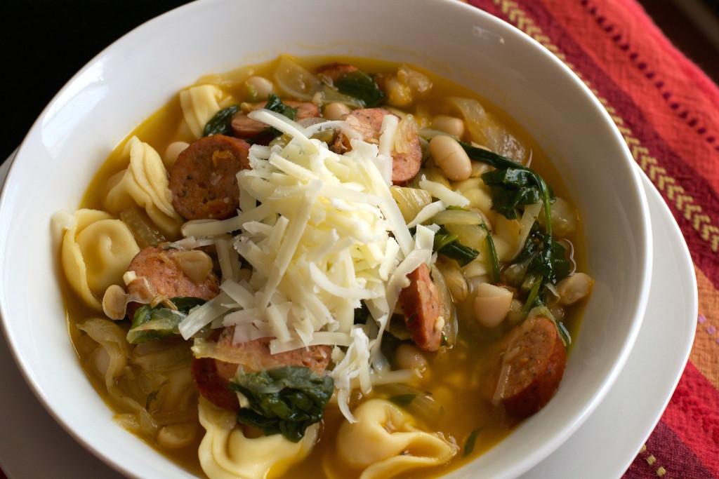 White Bean Sausage Tortellini Soup 1