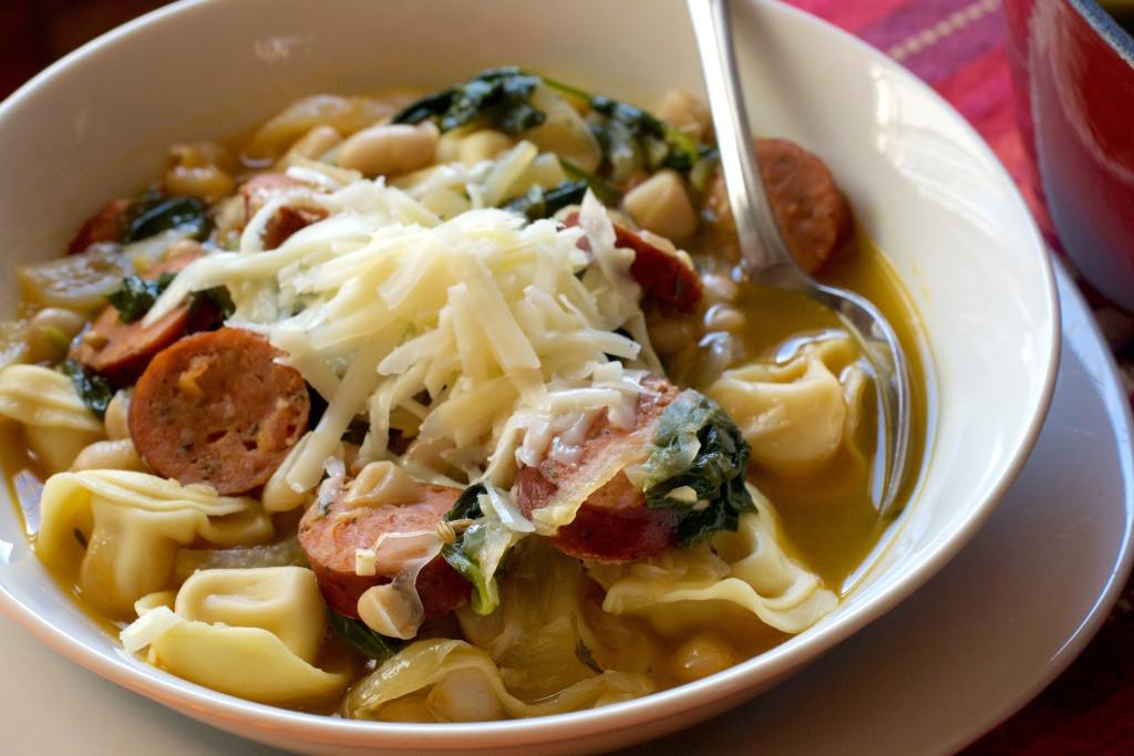 White Bean Sausage Tortellini Soup 6