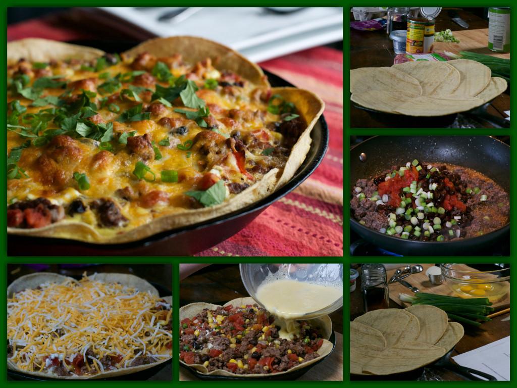 Tex-Mex Tacp Pie Collage