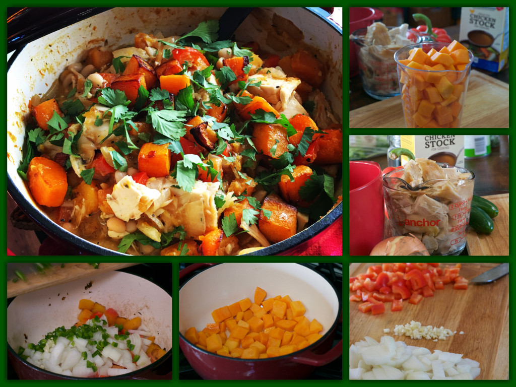White Chili with Butternut Squash Collage