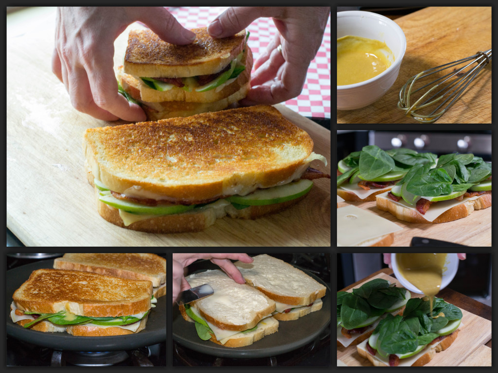 Bacon Apple Grilled Cheese Collage