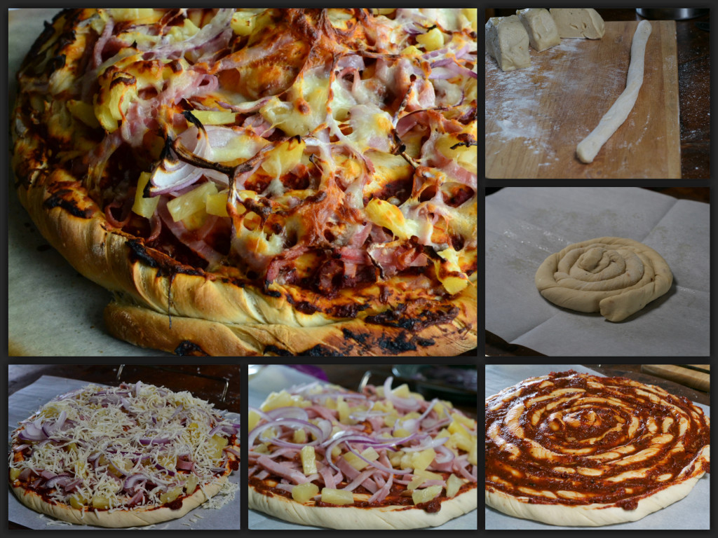 Twisted Hawaiian Pizza Collage