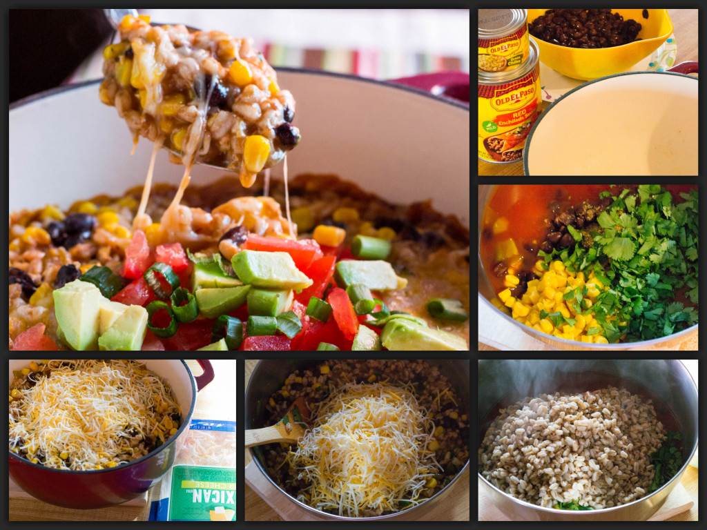 Chicken Enchilada Casserole Collage