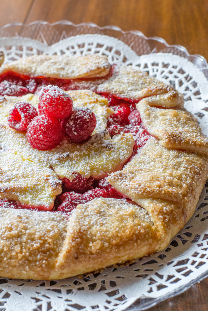 Raspberry Cheesecake Galette