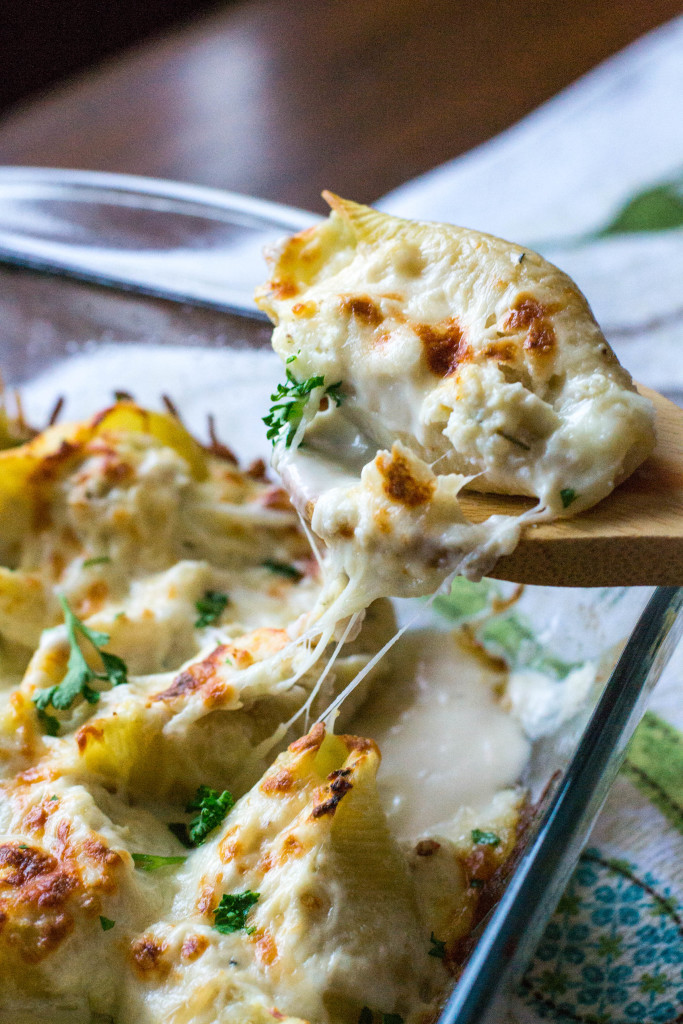 Chicken Alfredo Pasta Shells