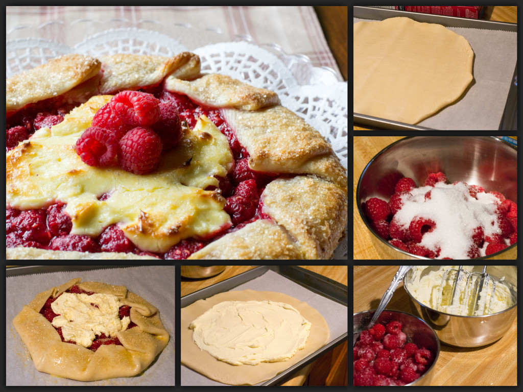 Raspberry Cheesecake Galette Collage