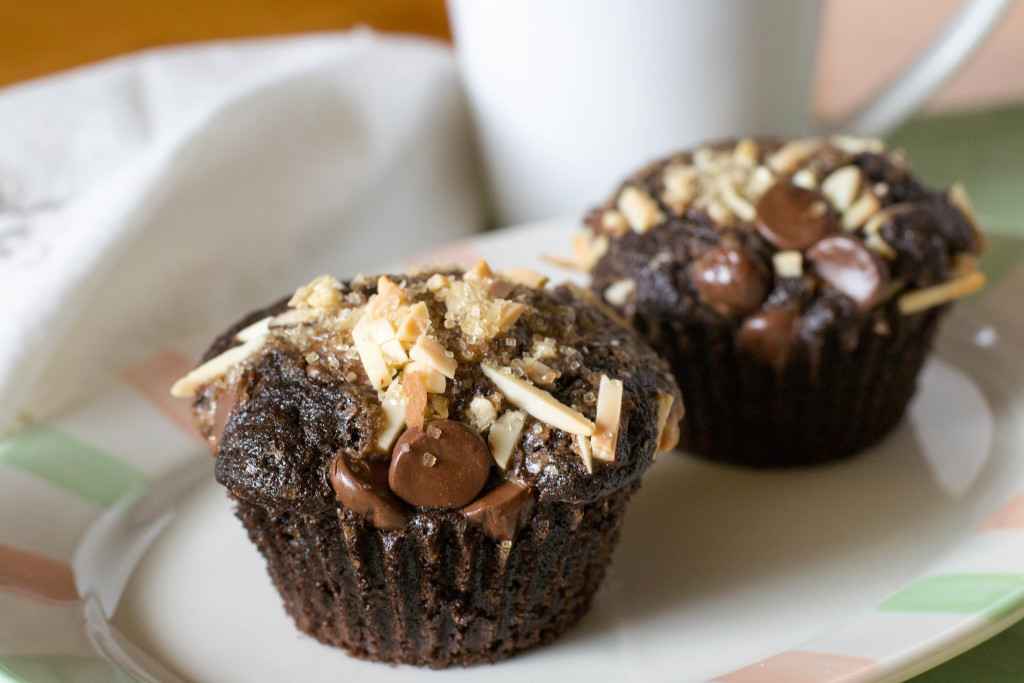 Chocolate Almond Espresso Muffins