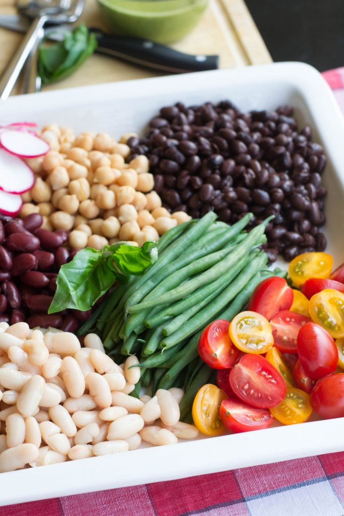 5 Bean Basil Salad