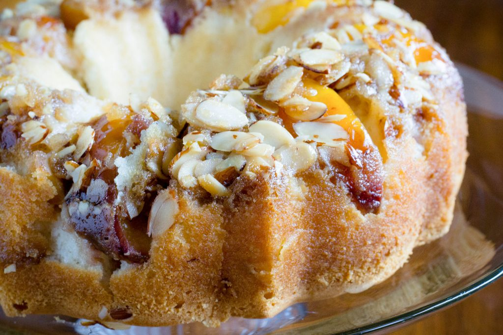 Peach Almond Upside Down Cake 2