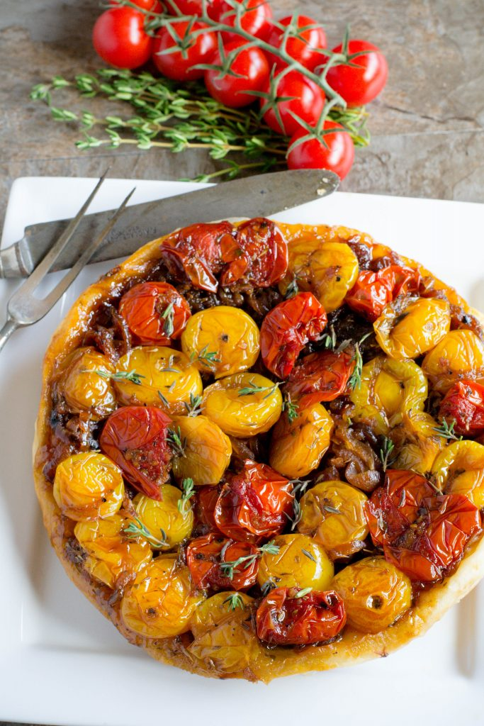 Upside Down Tomato Tart 7