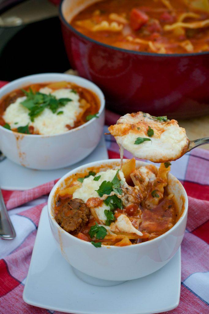 Sausage Lasagna Soup 6