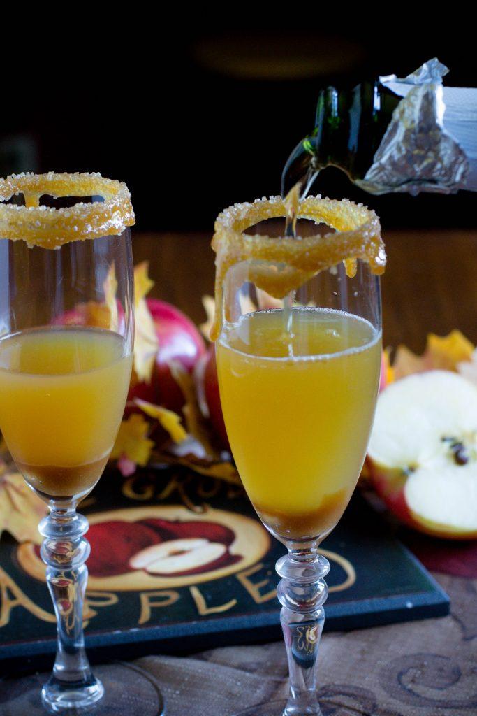 Alcohol Free Caramel Apple Mimosa