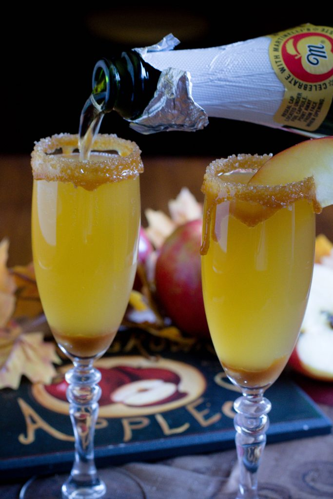 Alcohol Free Caramel Apple Mimosa 1