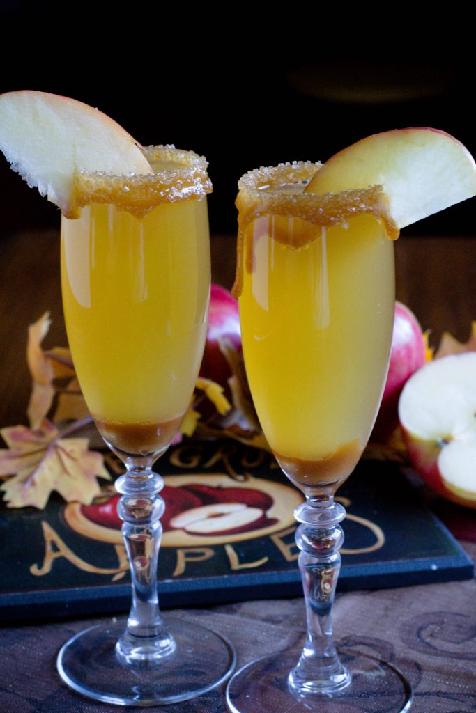 Alcohol Free Caramel Apple Mimosa 4