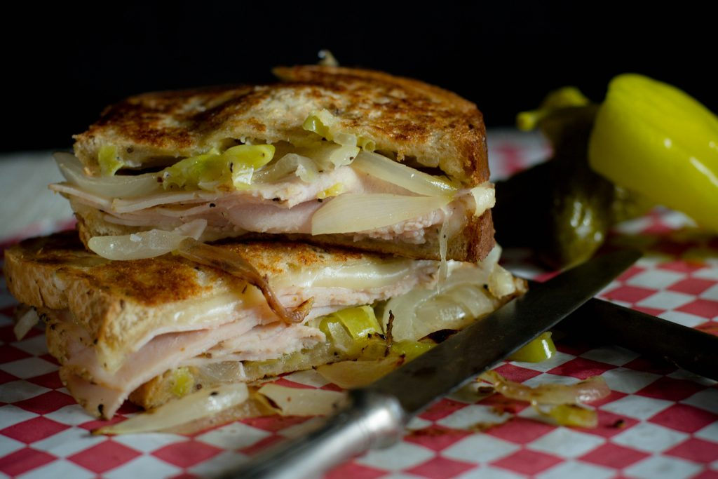 Grilled Turkey Pepperoncini Melt