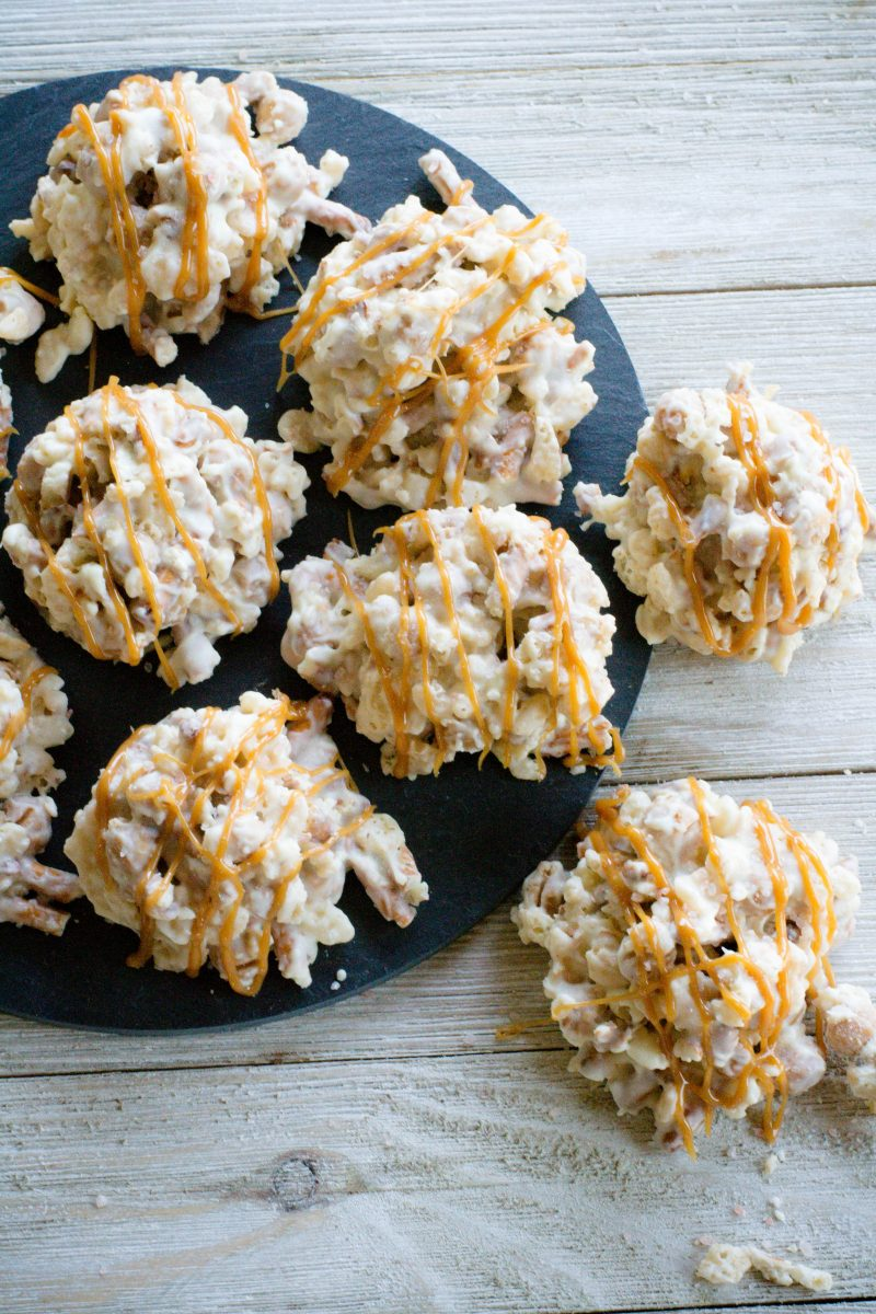 White Chocolate Salted Caramel Pretzel Crisps - What the Forks for ...