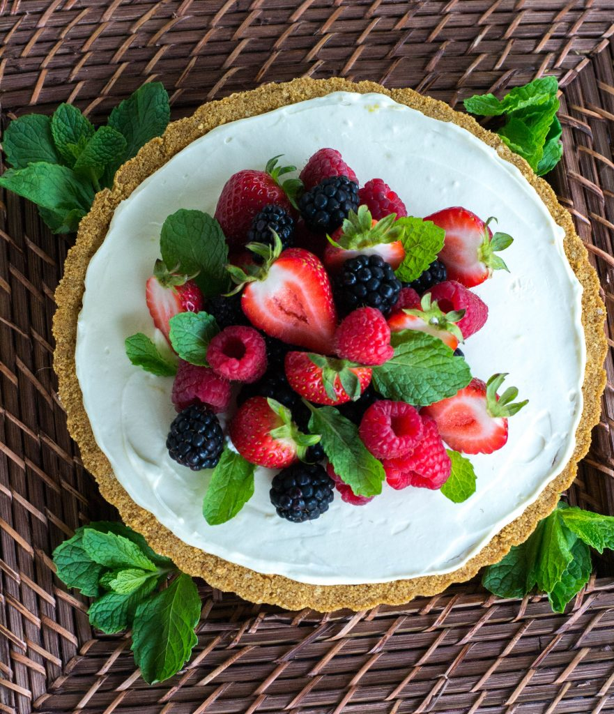 Triple Berry Lemon Mascarpone Tart