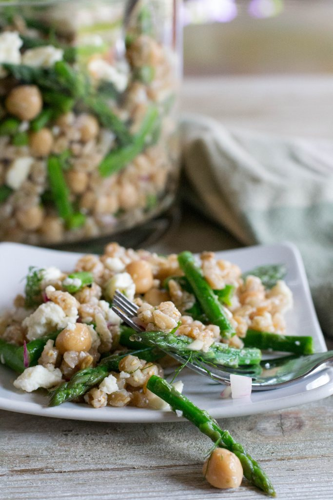 Asparagus Farro Feta Salad - What the Forks for Dinner?