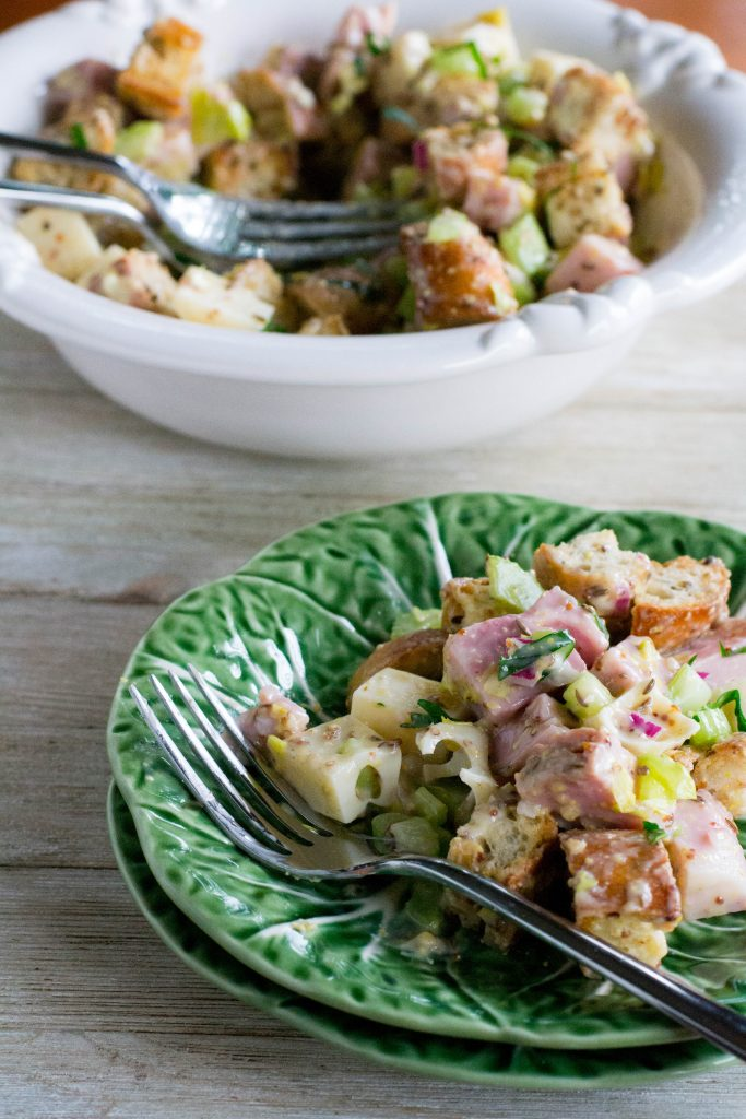 Ham and Swiss Cheese Sandwich Salad